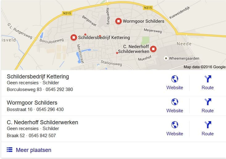 Schilders Google Places